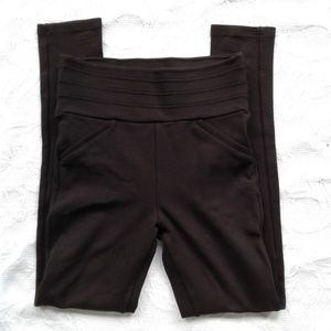 Zara Basic Leggings Pants Dark Brown Small Ponte